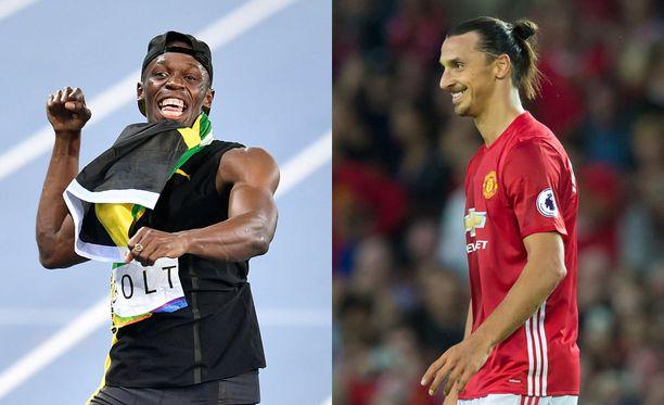 Usain Bolt fanittaa Manchester Unitedia ja Zlatan Ibrahimovicia.