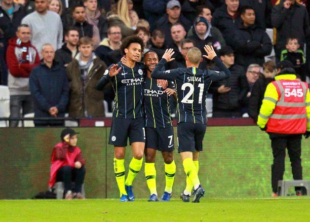 Manchester City höykytti West Hamia kunnolla.