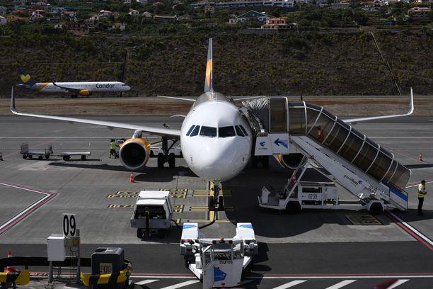 Thomas Cook lennätti asiakkaita pakettimatkoille esimerkiksi Egyptiin. Kuva Madeiran lentokentältä Portugalista.