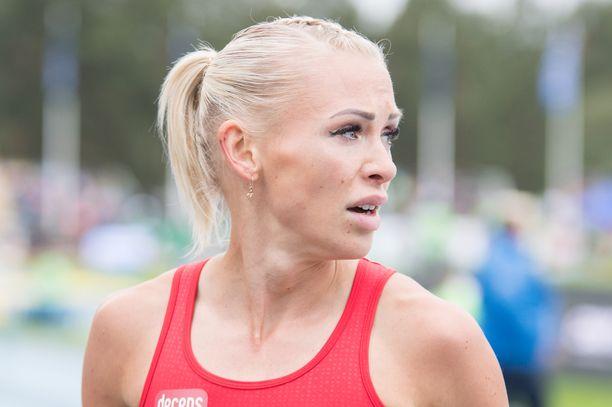 Annimari Korte on Euroopan tilastossa toisena tällä kaudella juostulla Suomen ennätyksellään 12,72.