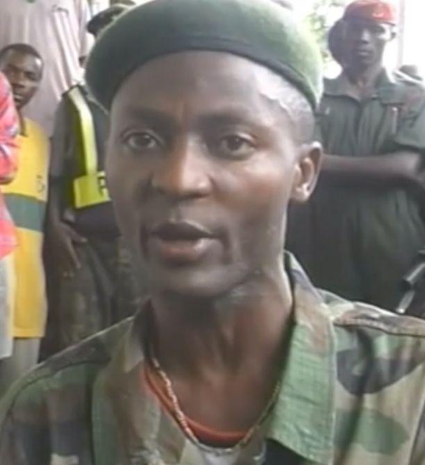 Gibril Massaquoi Liberian toisen sisällissodan aikaan.