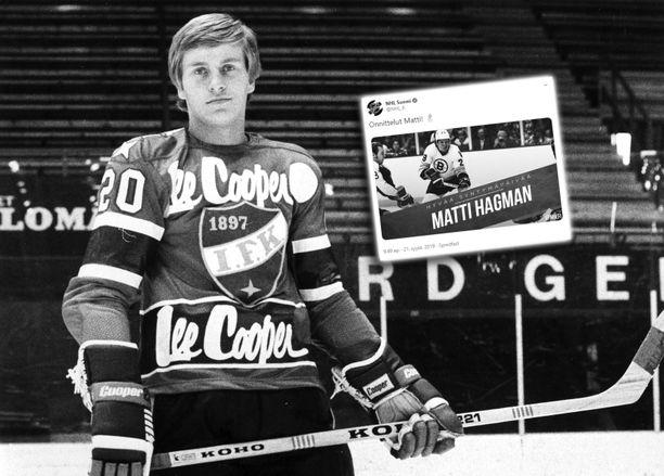 Matti Hagman muistetaan suomalaisen jääkiekon legendana.