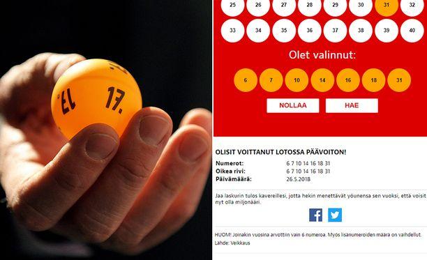 Iltalehden laskurilla voit kokeilla, olisitko joskus voittanut lottovoiton onnennumeroillasi.