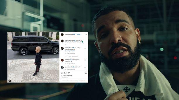 Drake julkaisi pojastaan suloisen kuvan somessa.