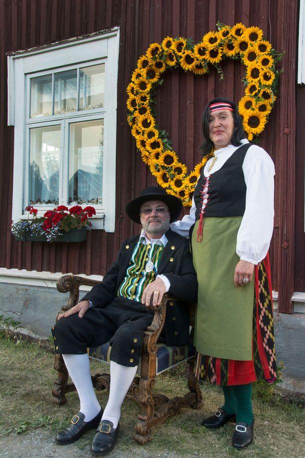 Juhani ja Leila Palmu ovat olleet naimisissa 10 vuotta.