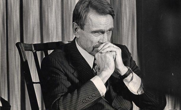 Mauno Koivisto pääministerinä vuonna 1981.
