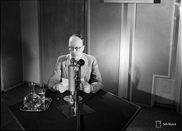 Presidentti Risto Ryti piti radiopuheen jatkosodan alettua 26. kesäkuuta 1941.