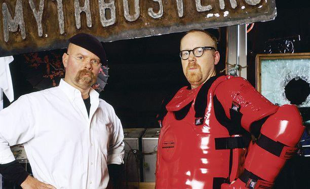 Jamie Hyneman ja Adam Savage viihdyttivät tv-katsojia 14 tuotantokauden ajan Myytinmurtajien juontajina.