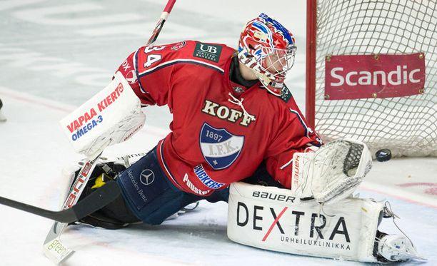 HIFK:n maalivahtilupaus Ville Husso menee tämän vuoden draftissa kuumille kiville.