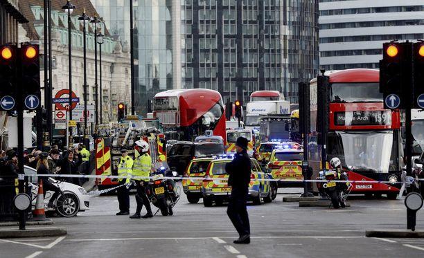 Hyökkäys tapahtui aivan Britannian parlamenttirakennuksen edustalla.