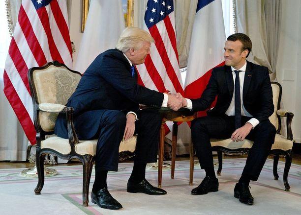 Trumpin ja Macronin kädenpuristus oli jäätävä toukokuun Nato-kokouksessa.