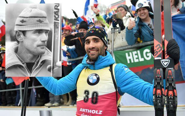 Martin Fourcade ohitti henkilökohtaisten 20 kilometrin maailmanmestaruuksien määrässä Heikki Ikolan (vas.).