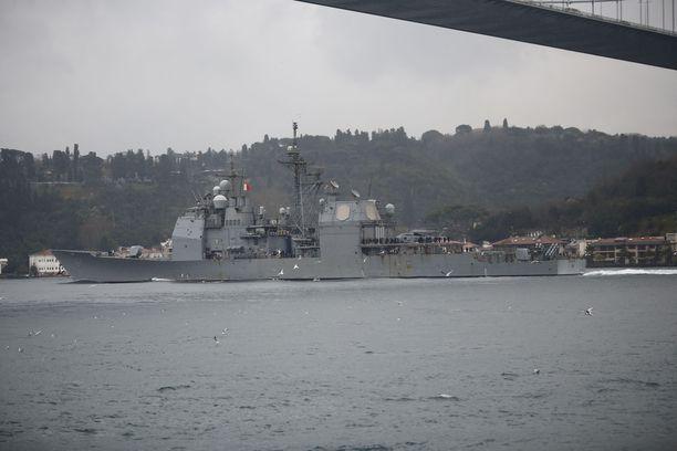 Yhdysvaltojen sotalaivat operoivat Mustanmeren alueella säännöllisesti tukeakseen Ukrainaa.