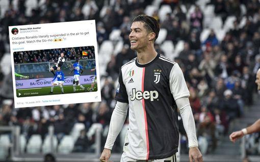 Cristiano Ronaldo teki maalin uskomattoman ilmalennon päätteeksi – vertasi itseään toiseen urheilulegendaan