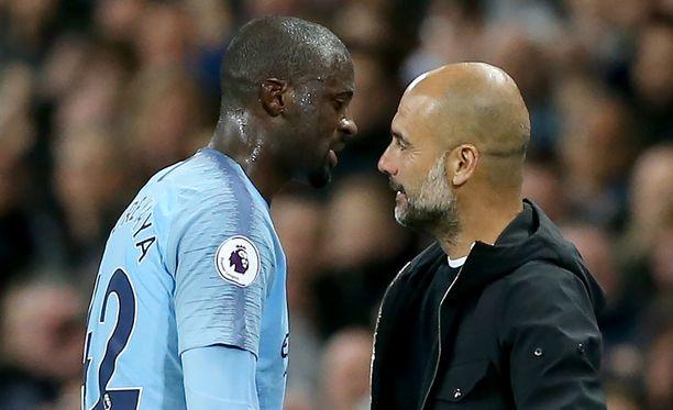 Yaya Touré ja Pep Guardiola eivät tulleet hyvin toimeen keskenään.