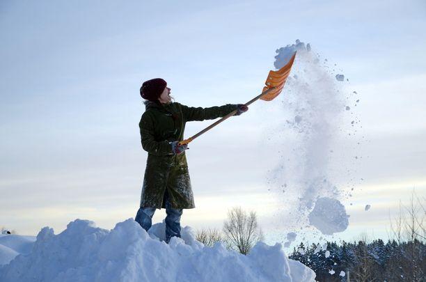 Lauantaina Suomeen yli kulkee lumisadealue. Kuvituskuva.