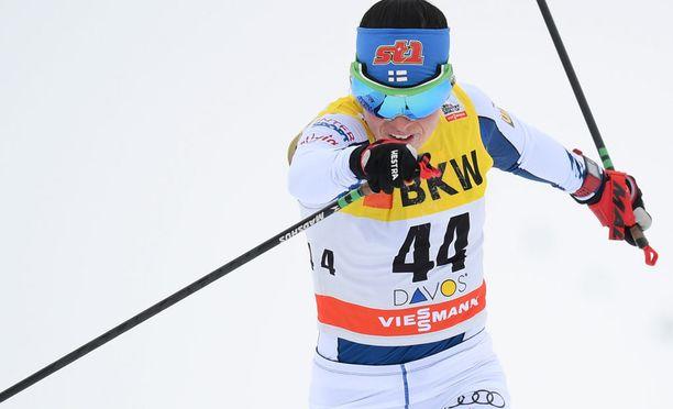 Krista Pärmäkoski oli hyvässä vireessä torstaina.