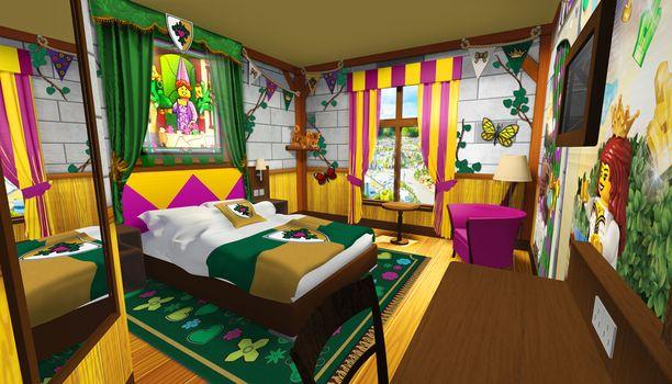 Lego-hotellin prinsessahuone.