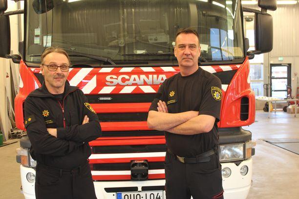 Jukka Hietamäki ja Janne Saikkonen ovat Etelä-Pohjanmaan pelastuslaitokselle kultakimpaleita.