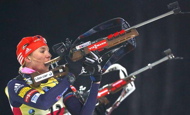 Anastasia Kuzmina romahti totaalisesti maailmancupin päätösviikonloppuna.