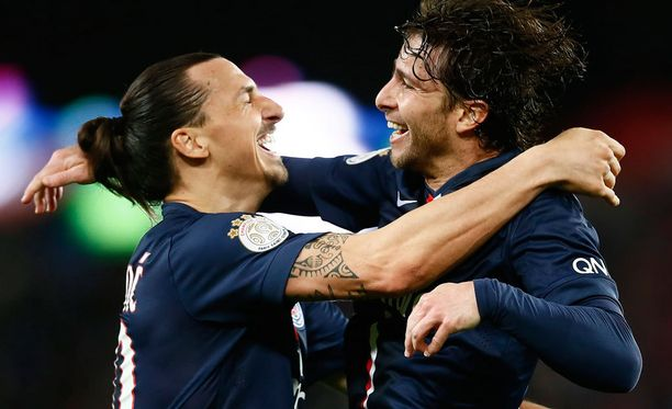 PSG:n Zlatan Ibrahomovic (vasemmalla) ja Maxwell ovat osanneet valita seuransa oikein, ainakin taloudellisessa mielessä.