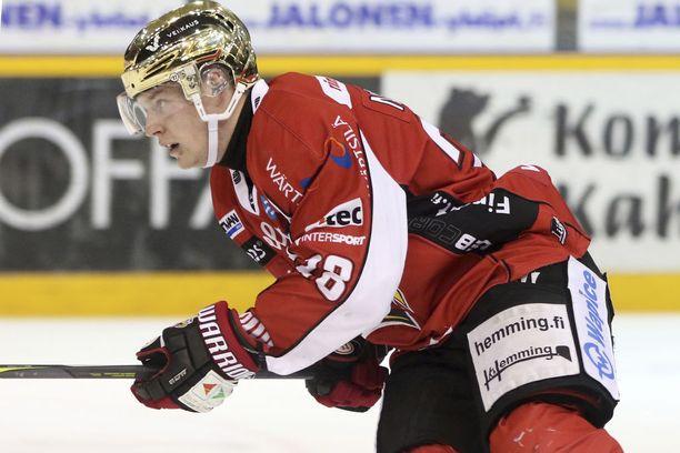 Sport-tykki Markus Nenonen on Liigan maalipörssin kolmossijalla.