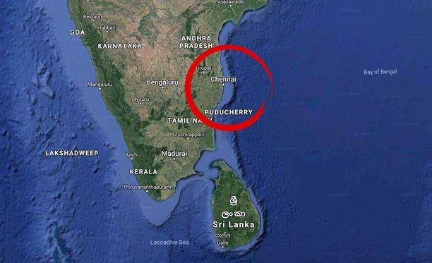 Suomalaisnainen kuoli Intian Chennaissa keskiviikkoaamuna.