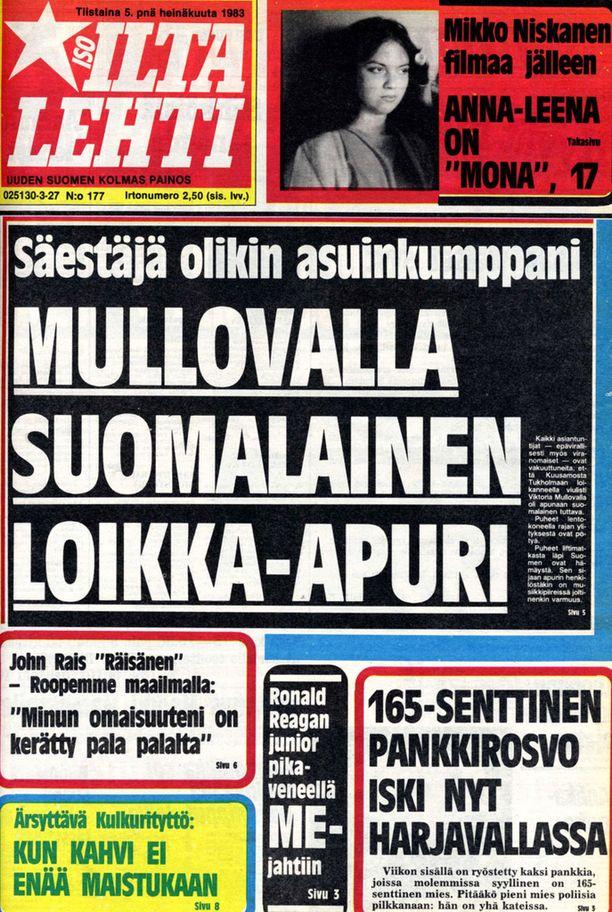 Mullovan suomalainen loikka-apuri oli kuvaaja Caj Sundman. Koulumies oli suunnittelija.