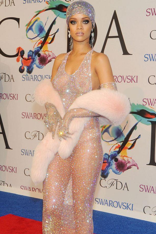 Rihanna Fashion Icon -gaalassa.