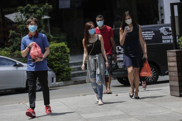 Singaporelaiset ovat jo tottuneet koronarajoituksiin.