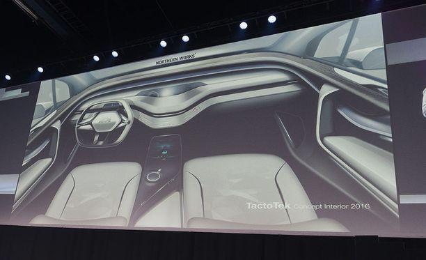 Suomalainen Tacto Tek suunnittelee käyttökytkimiä, jotka on sisäänrakennettu auton koristepaneeleihin.