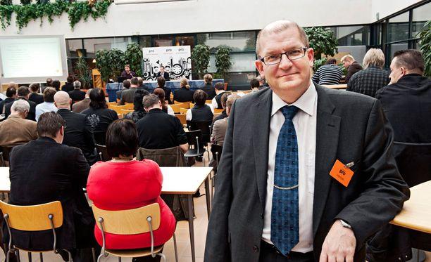 Metalliliiton puheenjohtaja Riku Aalto.