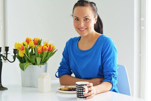 Karoliina Partasen koti on lähestulkoon kokonaan sisustettu suomalaisin tuottein.