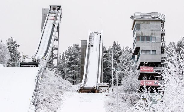 Mäkihyppy oli Teuvo Koljoselle rakas harrastus vuosikymmenien ajan. Kuvituskuva Ounasvaaralta.