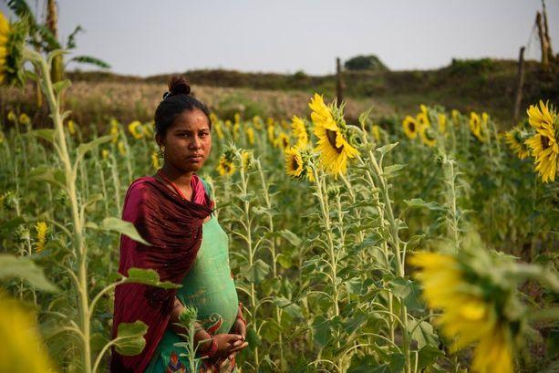 Sharmila Gaine, 14, karkasi naimisiin kaksi vuotta sitten Gakku Gainen, 18, kanssa. Sharmilan äiti olisi halunnut tukea tytärtään opiskelemaan, mutta tyttö näki kavereidensa avioituvan ja teki samoin. Sharmila katuu aikaista avioliittoaan eikä halua lapsia.