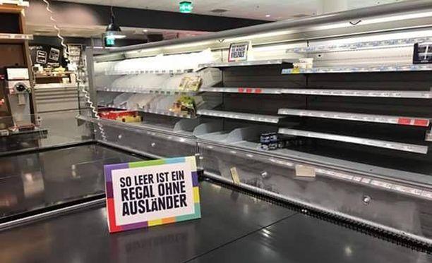 Edeka tarjoaa paljon kotimaisia tuotteita, mutta kaikkea ei Saksasta saa.