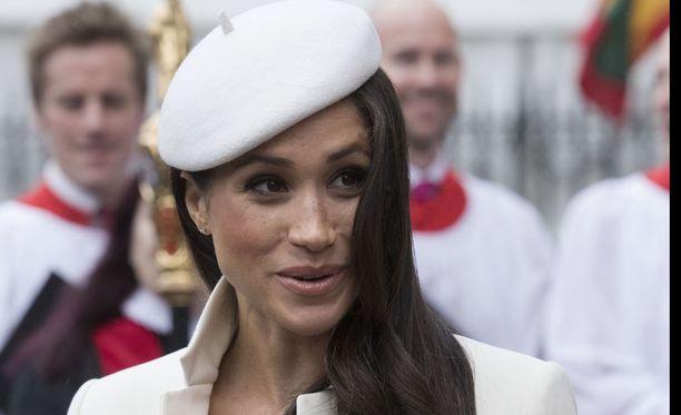 Meghan Markle oli osa Britannian kuninkaallisten seuruetta, joka osallistui maanantaina Kansainyhteisön päivän juhlallisuuksiin Westminster Abbeyssa Lontoossa.