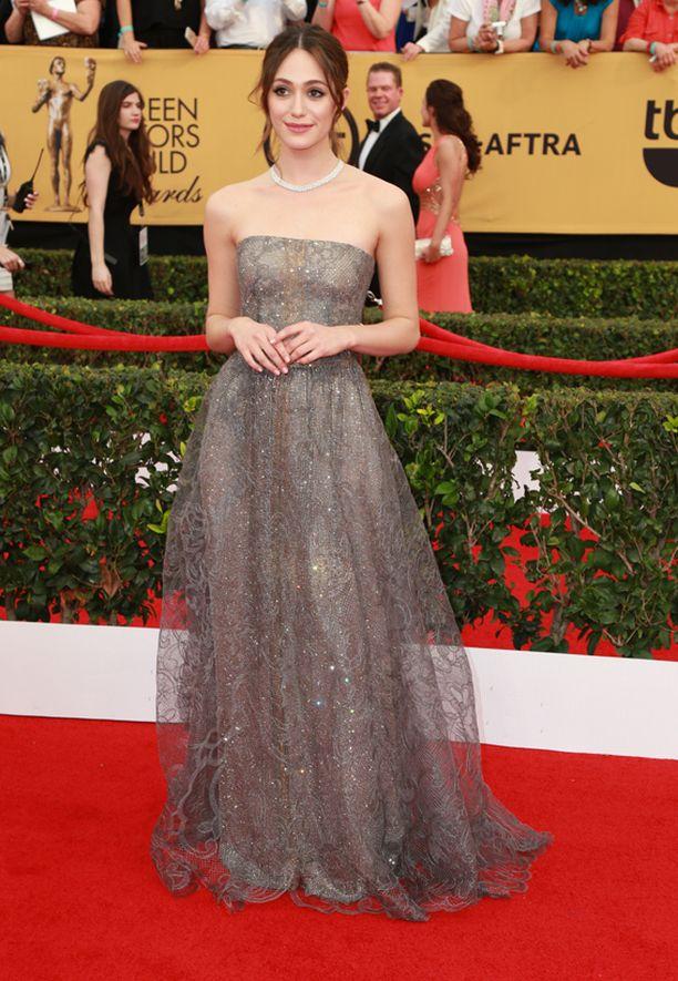 Emmy Rossum näytti hennossa iltapuvussaan keijukaiselta.