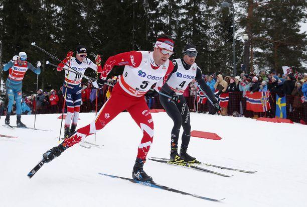 Holmenkollenin 50 kilometrin kilpailu on klassikko. Kuva vuodelta 2018.