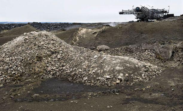 Talvivaaran kaivosalue erottaa maa-aineksesta bakteerien avulla metalleja jalostettavaksi.
