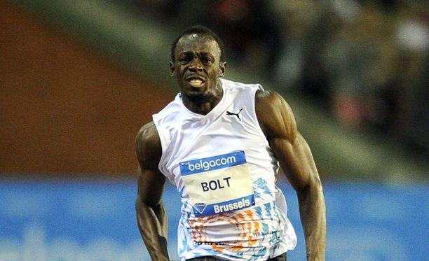 Usain Bolt pinkoi hurjan ajan Brysselissä.