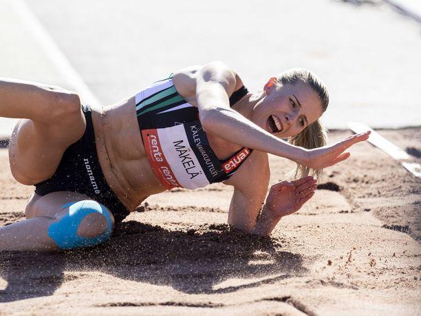 Kristiina Mäkelä voitti jälleen SM-kultaa, mutta Suomen ennätys jäi kauas.