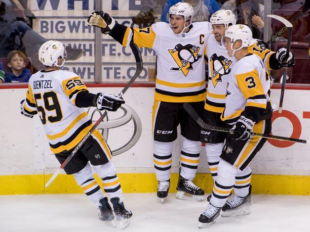 Sidney Crosbyn johtama pingviinilauma on ollut kahdessa edellisessä ottelussaan murskaavan ylivoimainen.