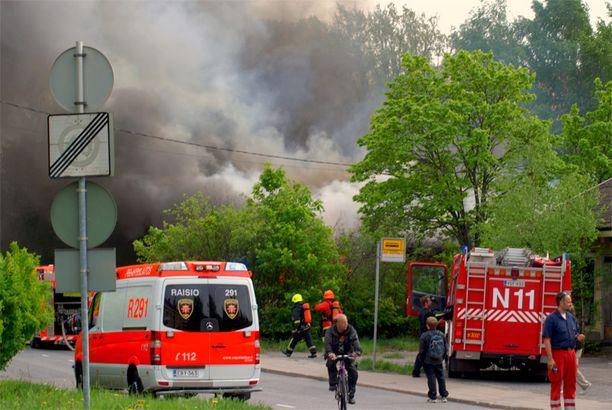 Tulipalo syttyi kello 17 aikaan keskiviikkona.