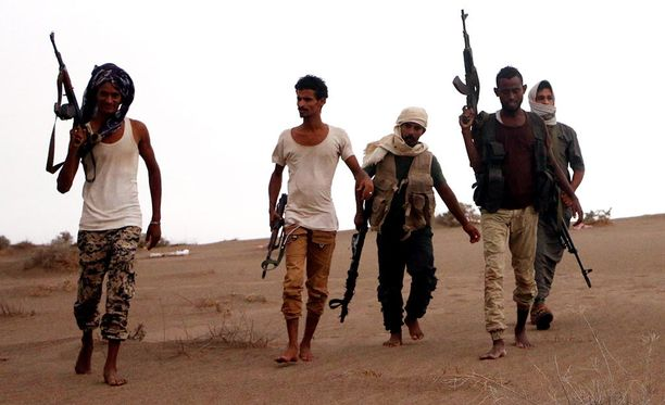 Jemenin hallinnon sotilaita Hodeidassa heinäkuussa.