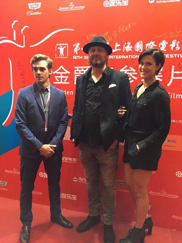 Lauri Tilkanen, Antti J. Jokinen ja Krista Kosonen edustivat elokuvaa Shanghaissa.