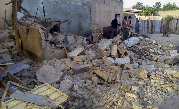 Itsemurhaiskuja ja pommihyökkäyksiä tapahtuu usein Maidugurissa. Kuva viime heinäkuussa tapahtuneesta pommi-iskusta.