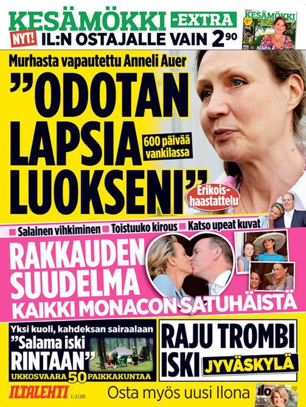 Hovioikeus vapautti Anneli Auerin heinäkuussa 2011.