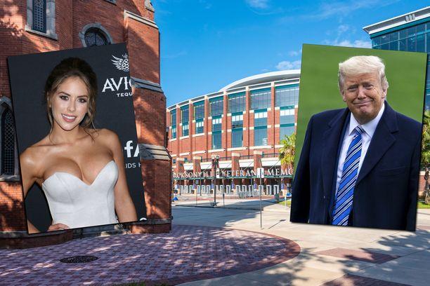 Tapahtuma järjestettiin VyStar Veterans Memorial -areenalla. Huomiota saivat myös kehätyttö Brittney Palmer ja Yhdysvaltain presidentti Donald Trump.