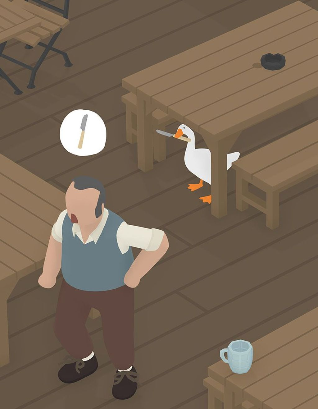 Ärhäkkä hanhi piinaa pikkukylän asukkaita pelissä nimeltä Untitled Goose Game.
